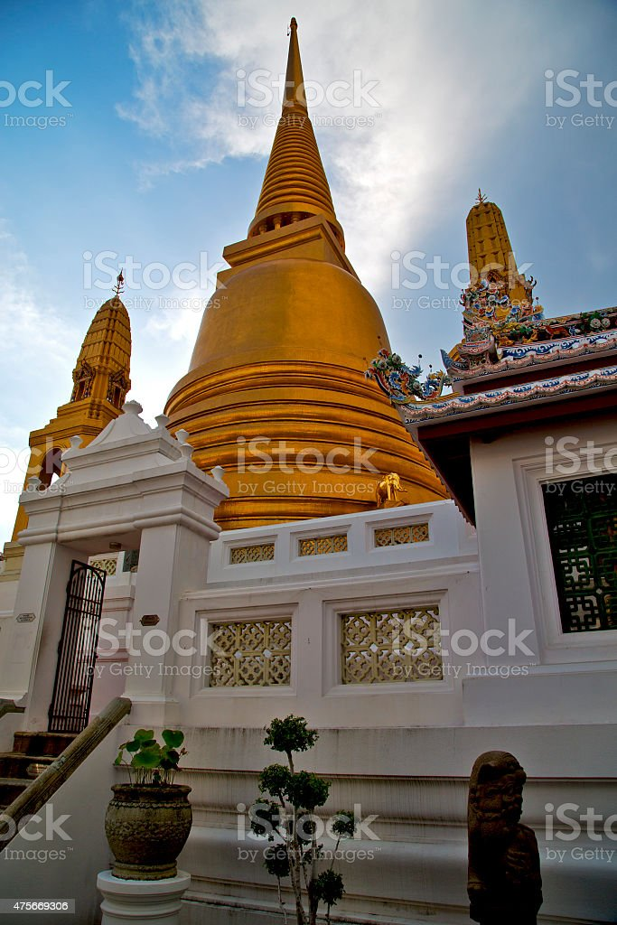 asia  thailand  in  bangkok sunny  plant religion      mosaic stock photo