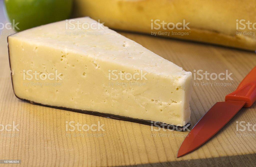 Asiago cheese stock photo