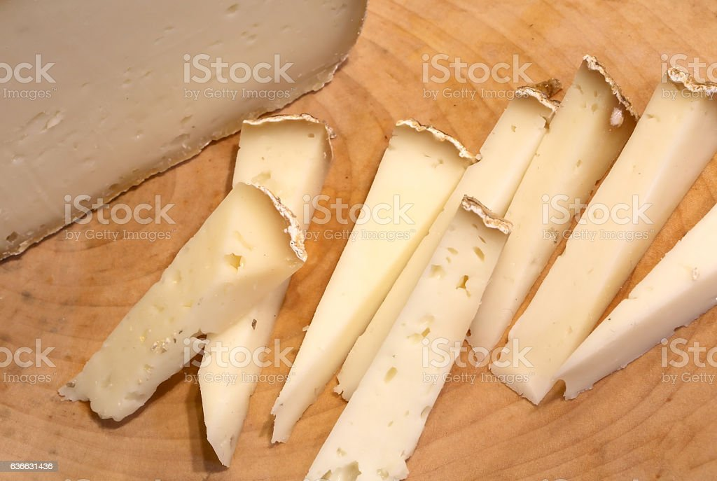 Asiago cheese produced in Italy stock photo