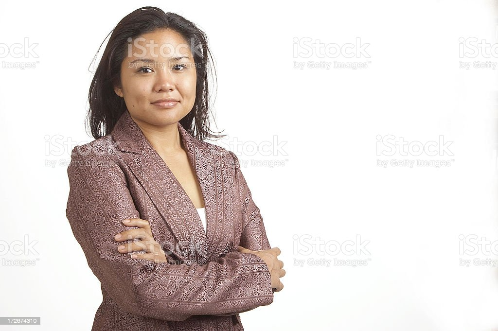 Asian American boss royalty-free stock photo