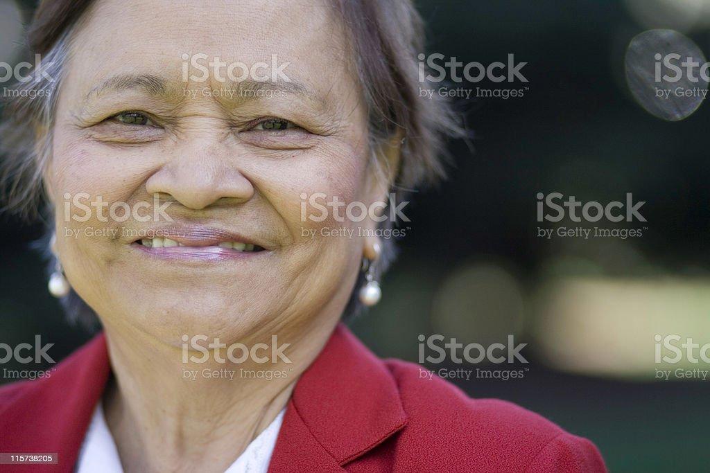 Asian American Senior Citizen royalty-free stock photo
