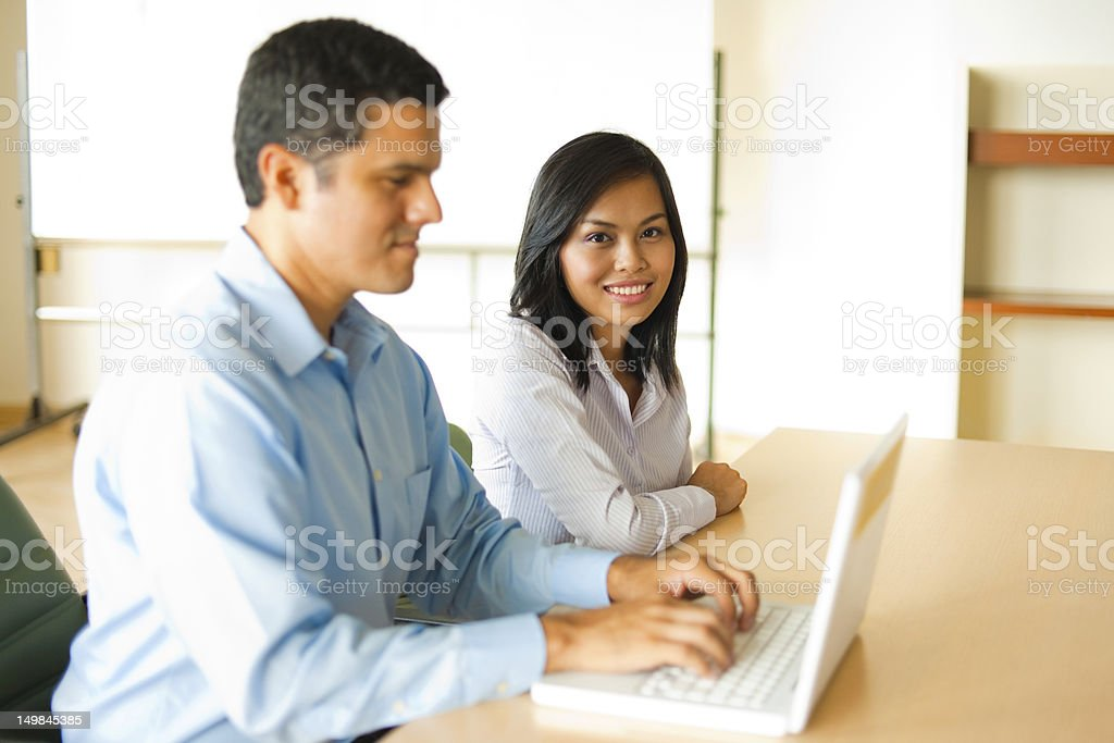 Asian And Hispanic Business Meeting royalty-free stock photo