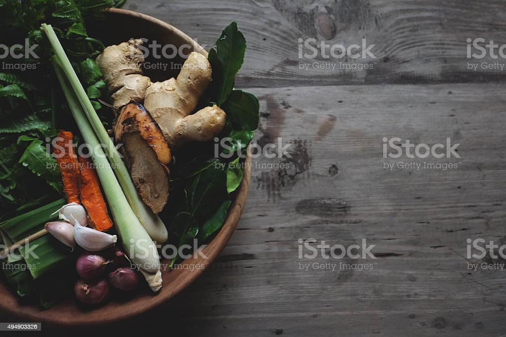 asian and thai spices stock photo