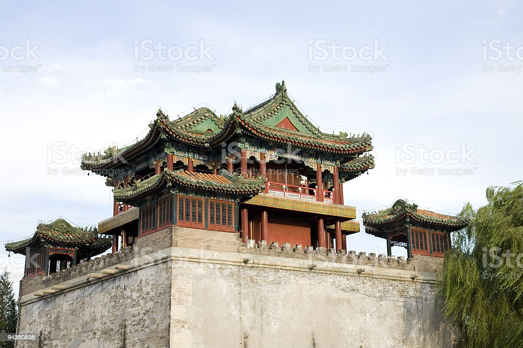 asian antique building royalty-free stock photo