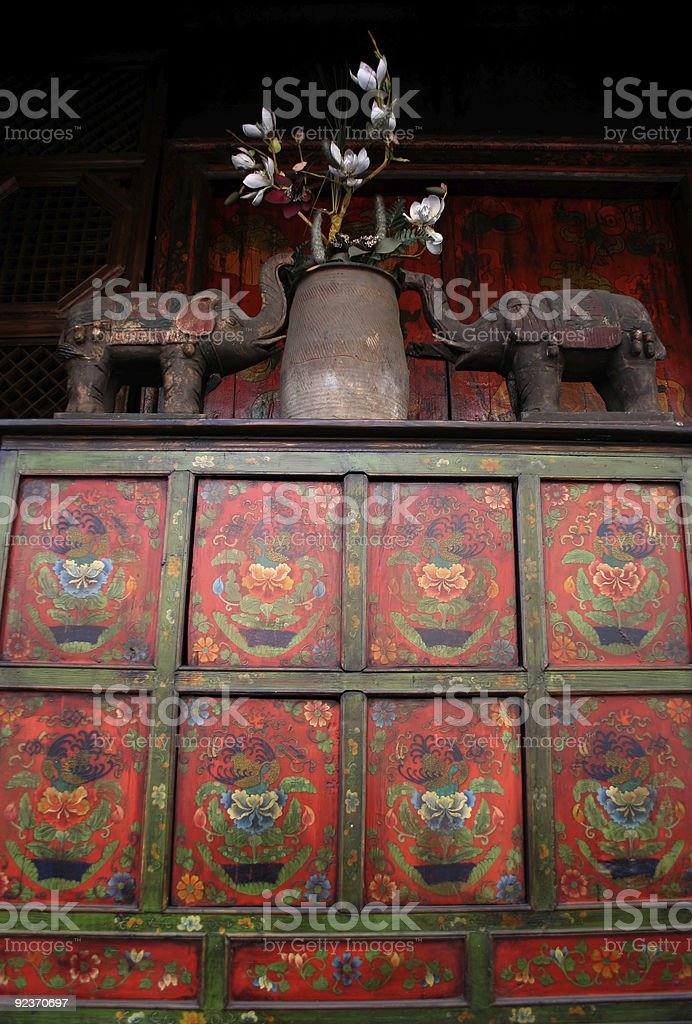 Asian antiques stock photo