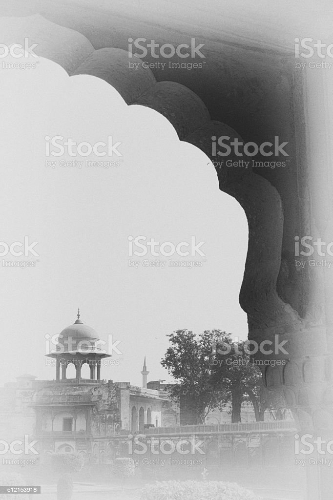 Asian Architecture Antique Plate Style stock photo