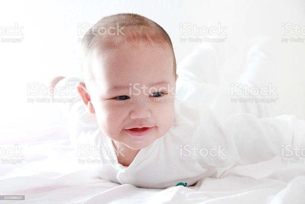 Asian Baby Face stock photo