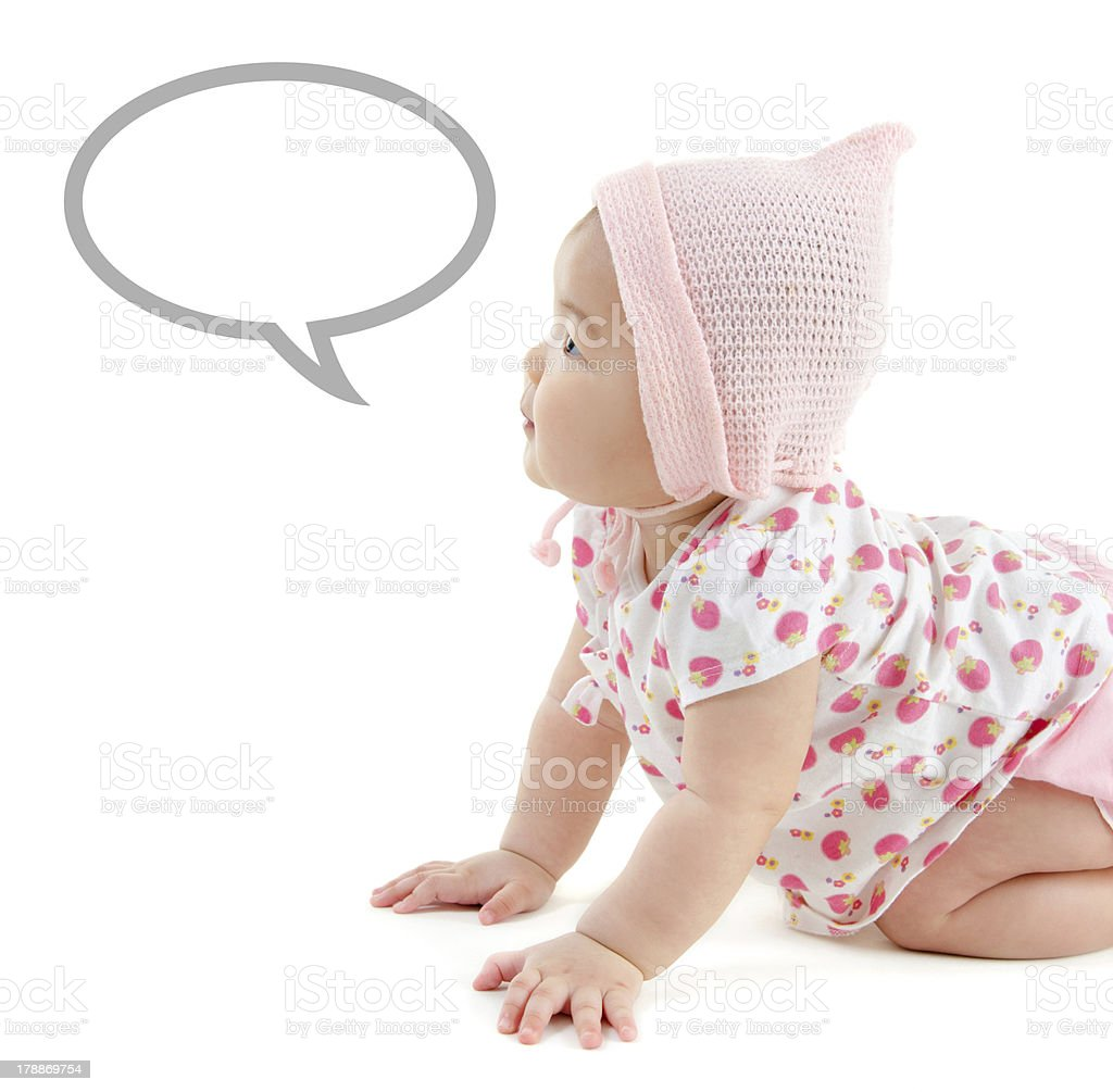 Asian baby girl announcement royalty-free stock photo