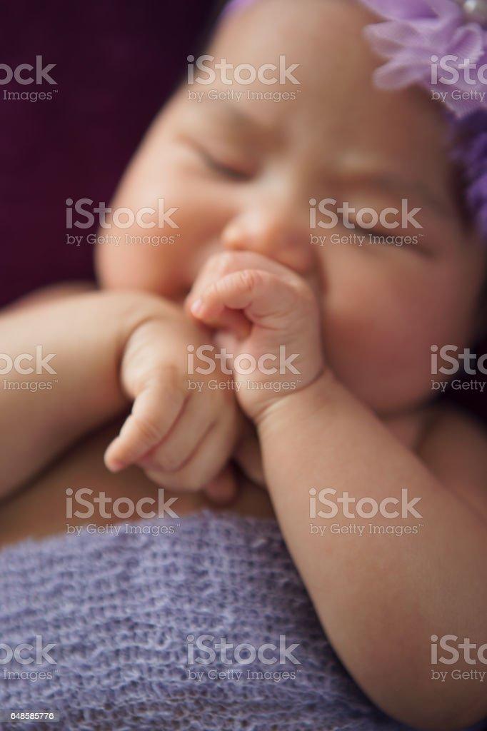 Asian Baby girl newborn stock photo