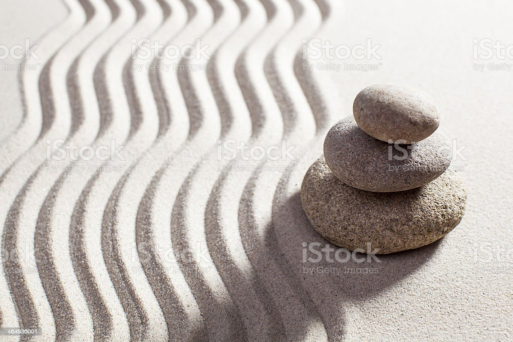 asian balance designed with stones royalty-free stock photo