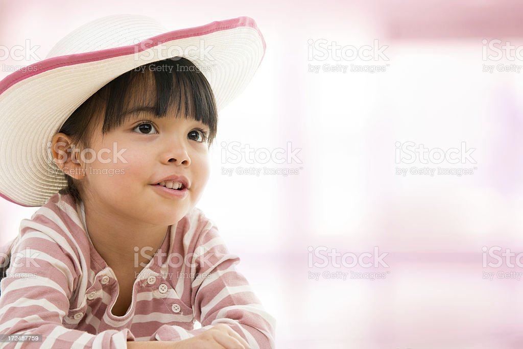 Asian beautiful little girl portrait royalty-free stock photo