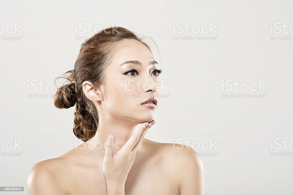 Asian beauty face portrait stock photo