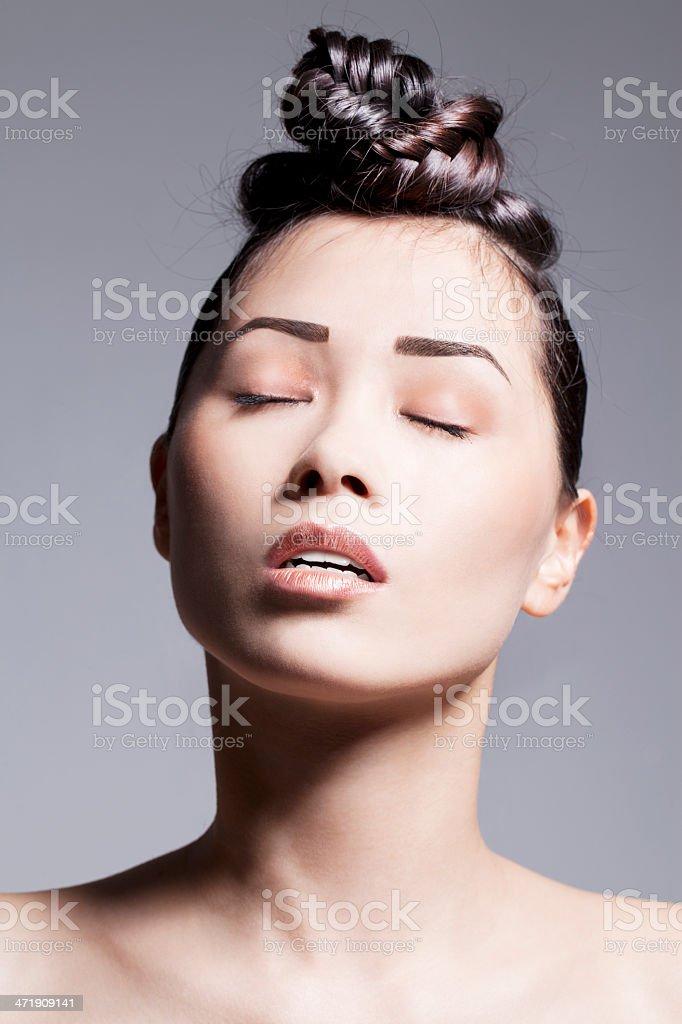 Asian Beauty Hairdo stock photo