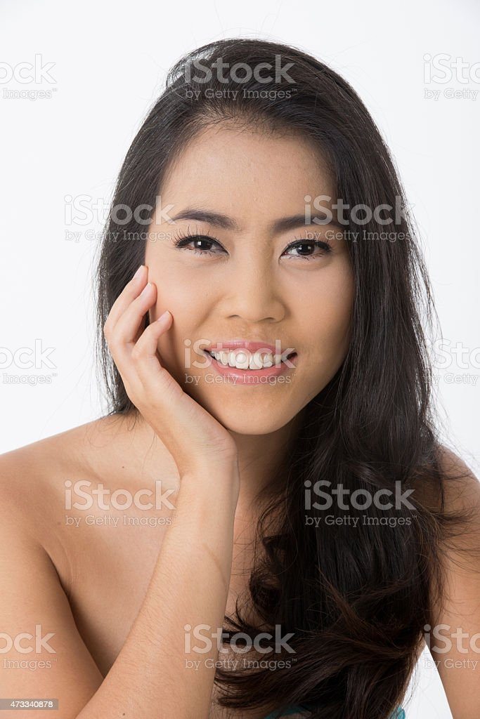 asian beauty isolated on white stock photo