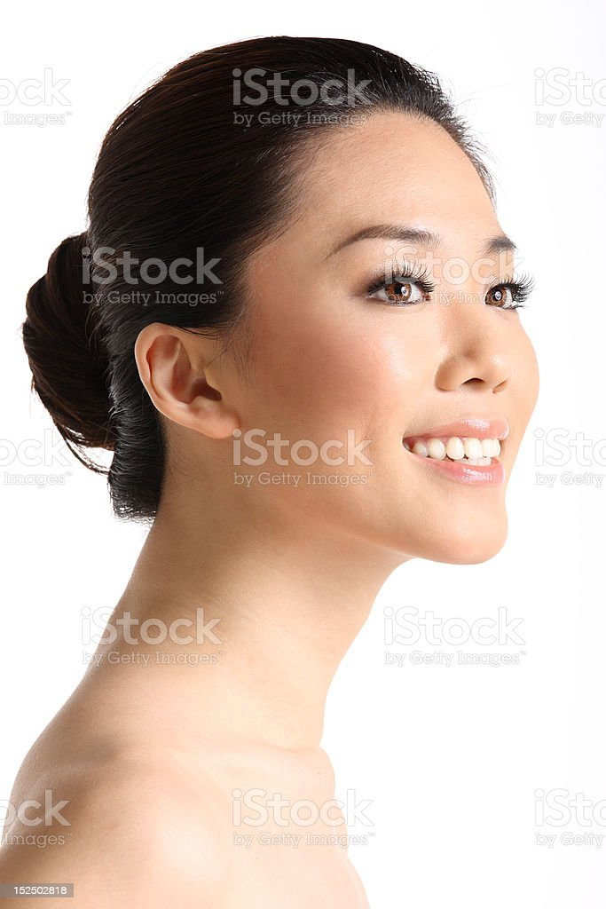 Asian Beauty right profile royalty-free stock photo