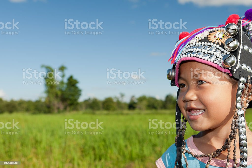 asian boy ethnic Akha stock photo