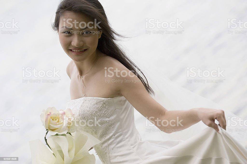 Asian Bride 19 royalty-free stock photo