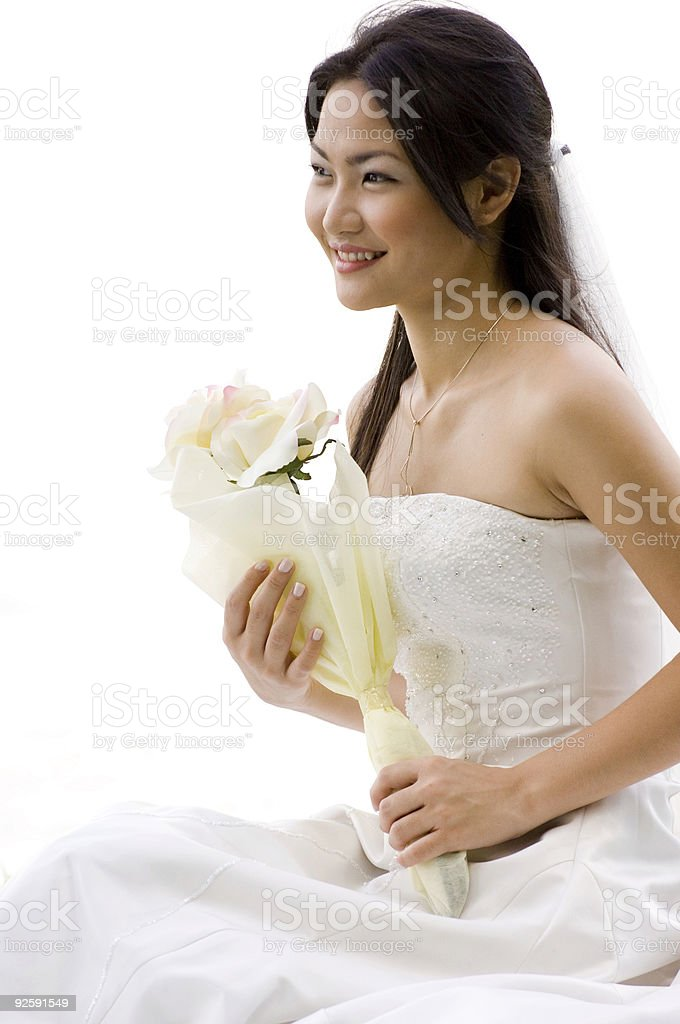 Asian Bride 4 stock photo