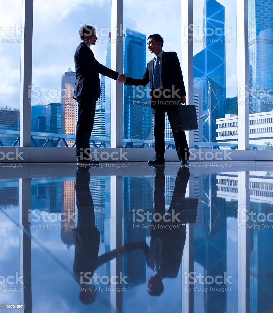 Asian Business Handshake stock photo