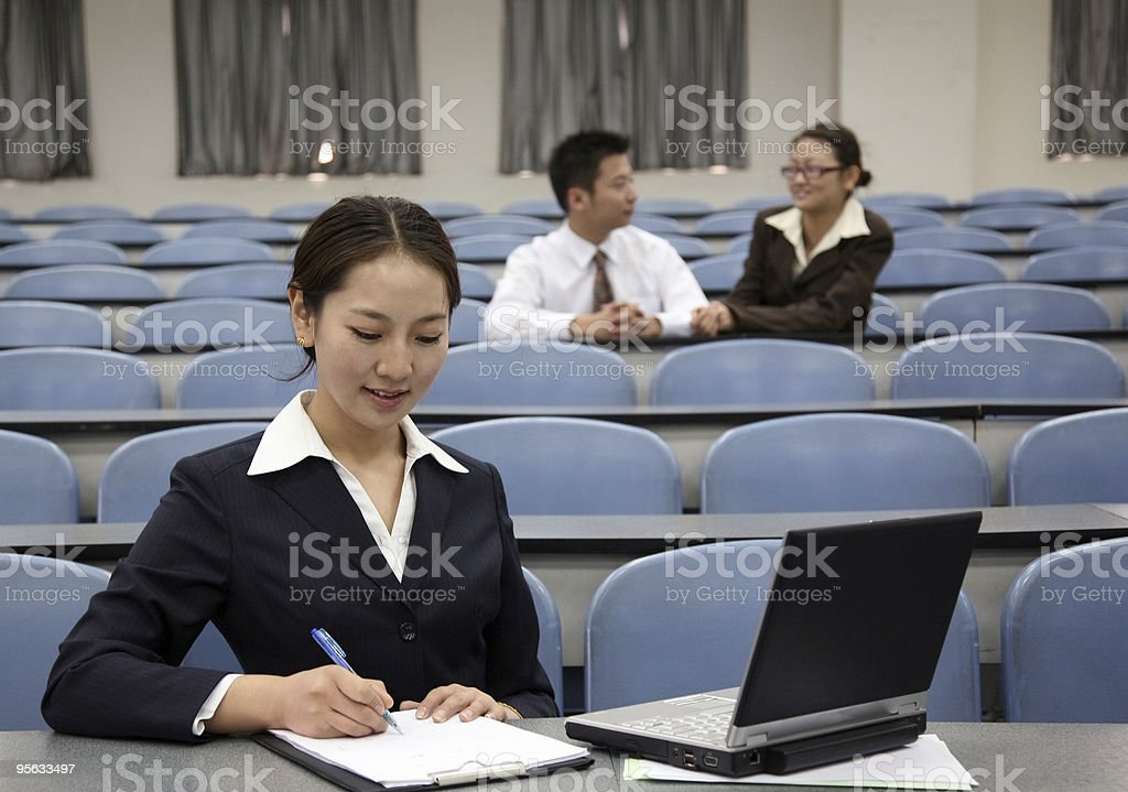 asian business people royalty-free stock photo