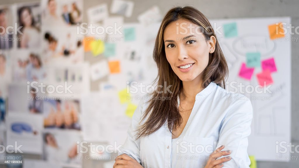Asian business woman at the office stock photo