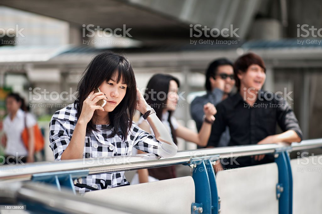 Asian Business Woman Phone Call stock photo