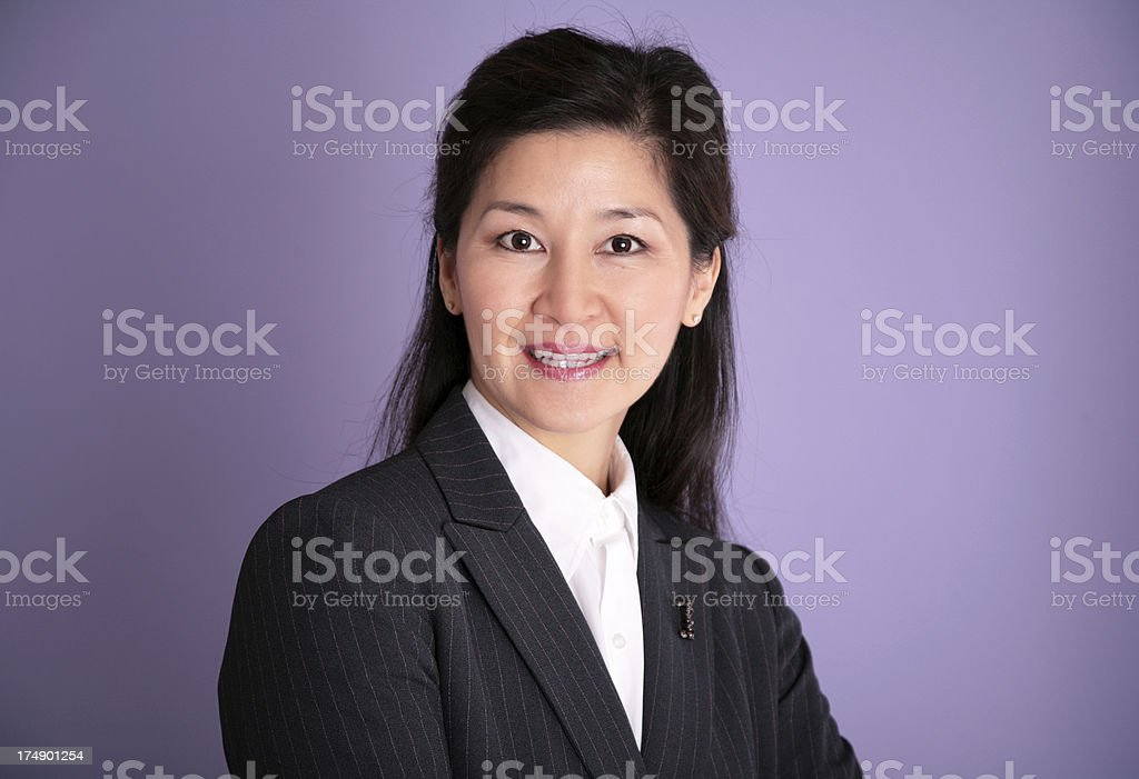 Oriental Business Woman royalty-free stock photo