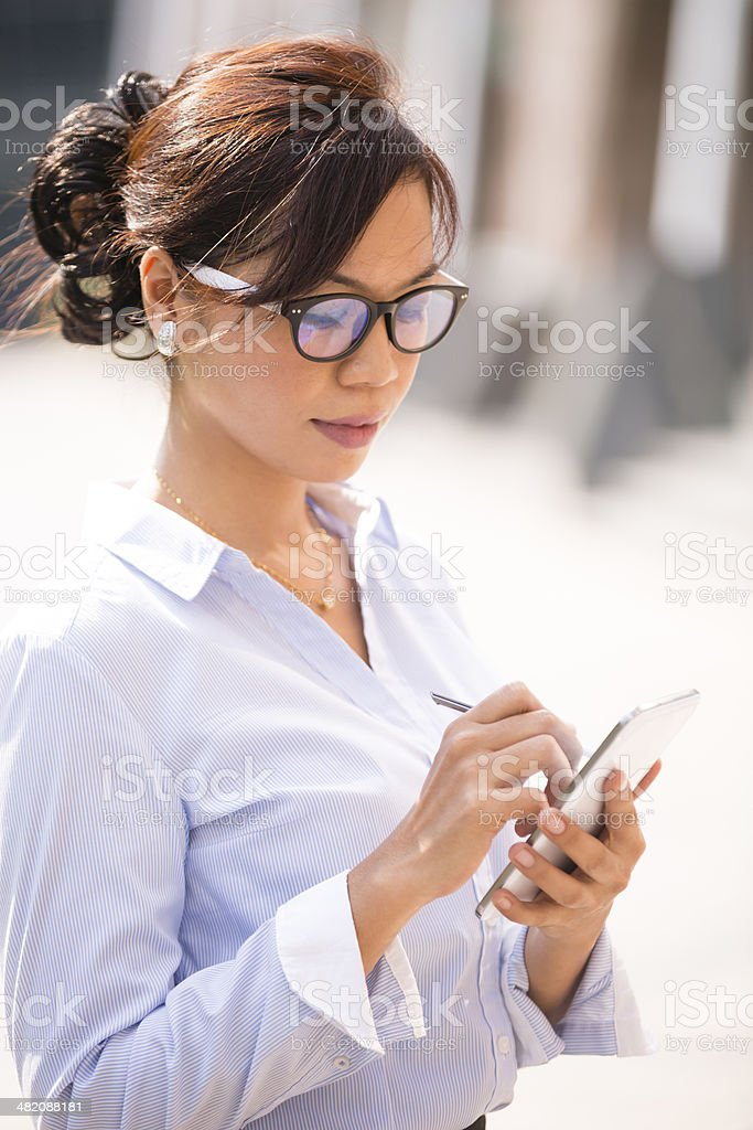 Asian Business Woman Smart Phone royalty-free stock photo