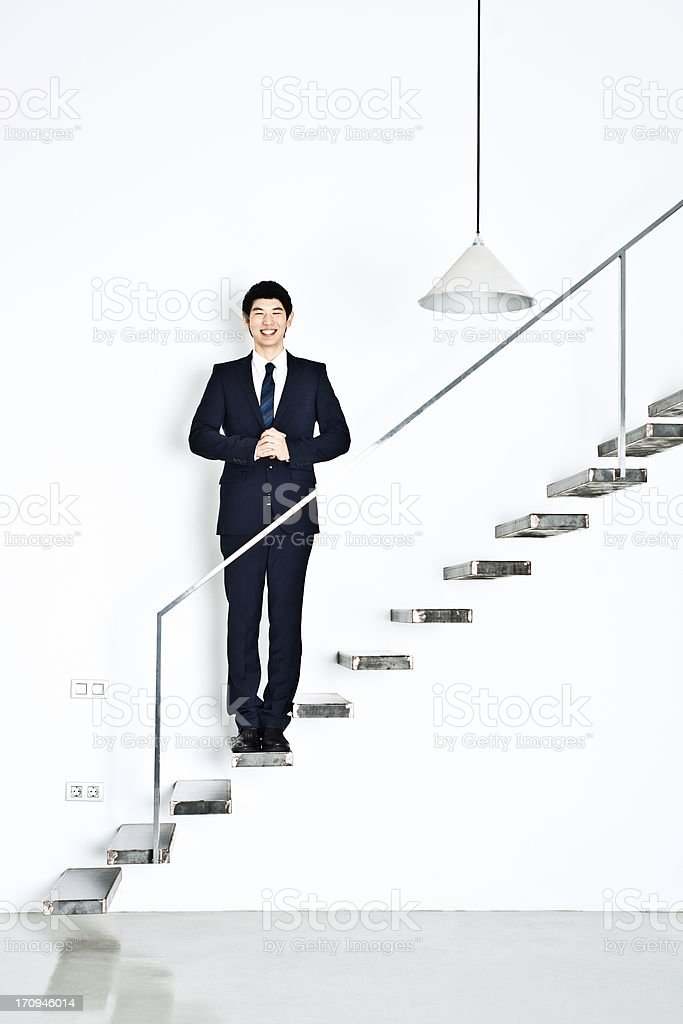 Asian businessman in modern office stock photo