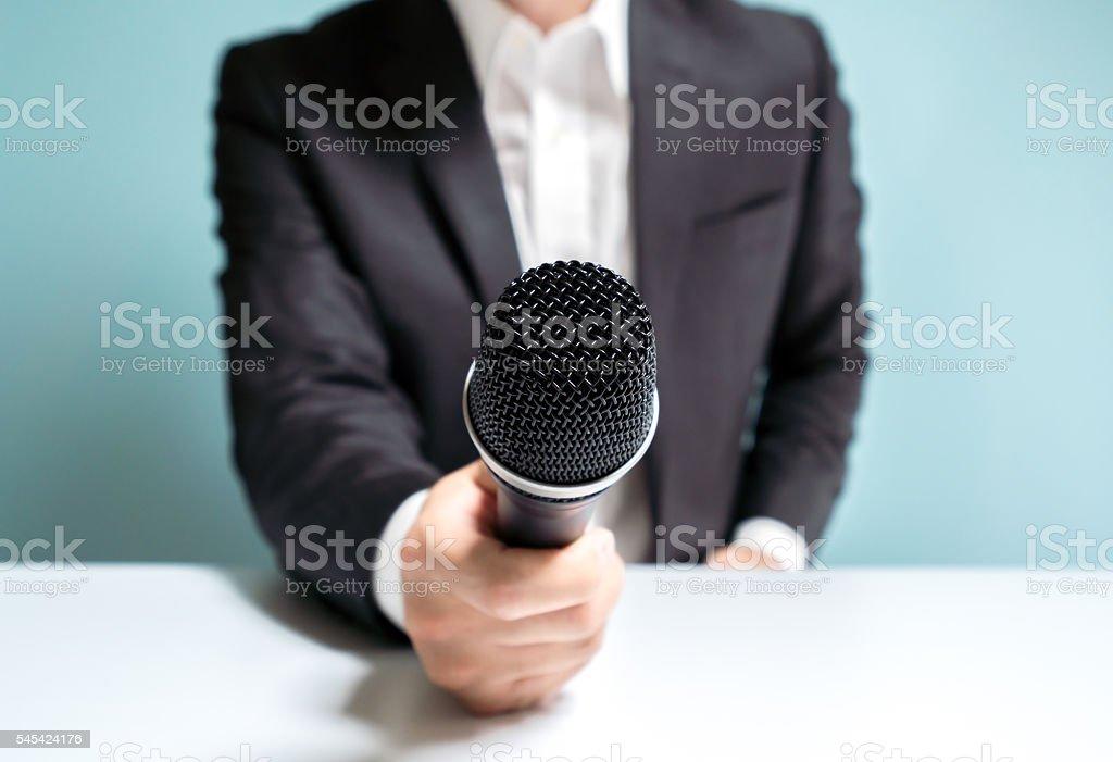 Asian businessman interviewing stock photo