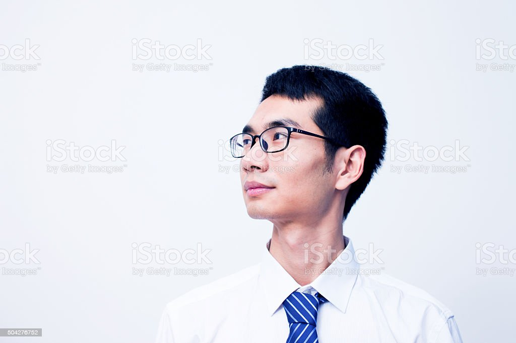Asian businessman portrait stock photo
