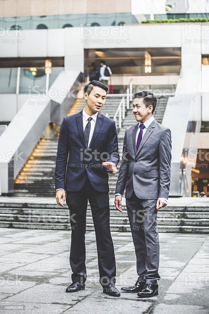 Asian businessmen. royalty-free stock photo