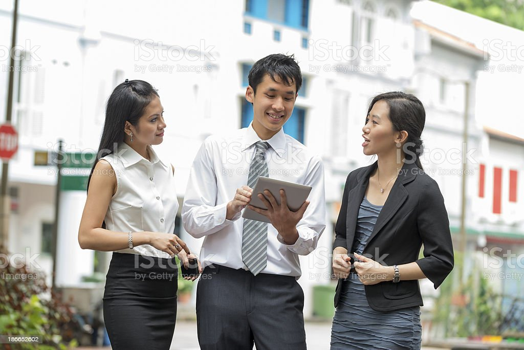 Asian Businesspeople stock photo