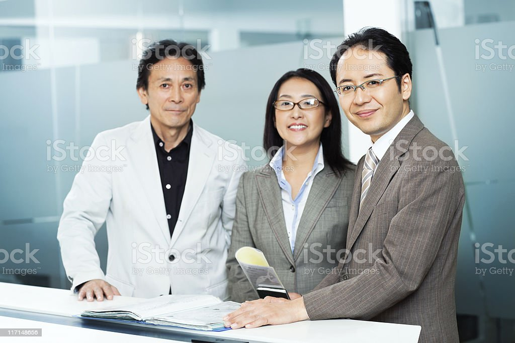 asian businessteam royalty-free stock photo