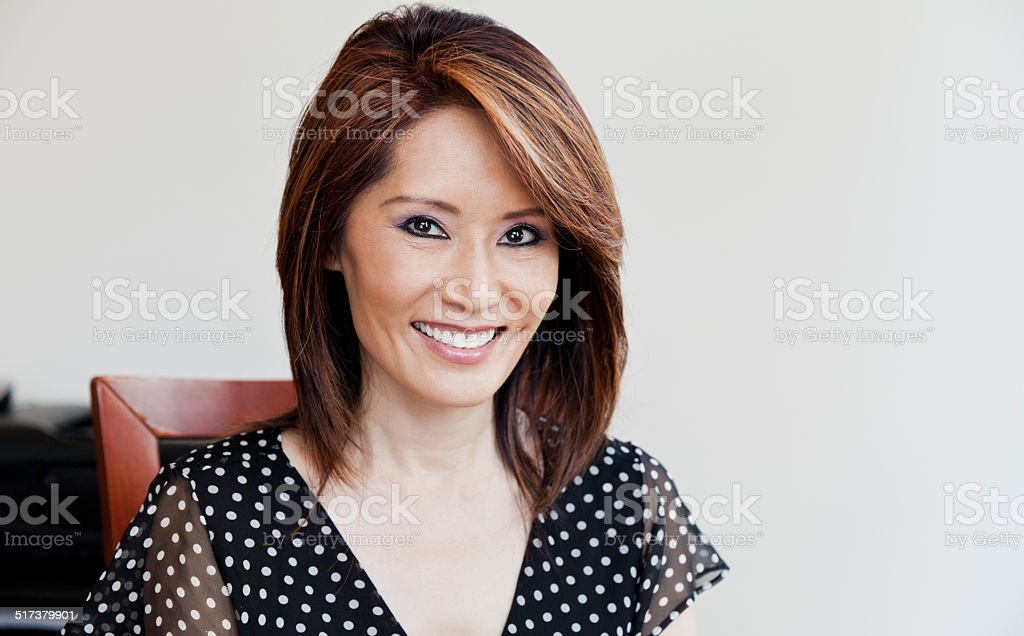 Asian Businesswoman At The Office stock photo