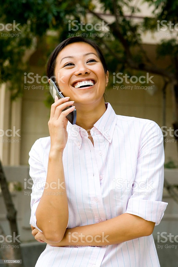 Asian Businesswoman Laughing royalty-free stock photo