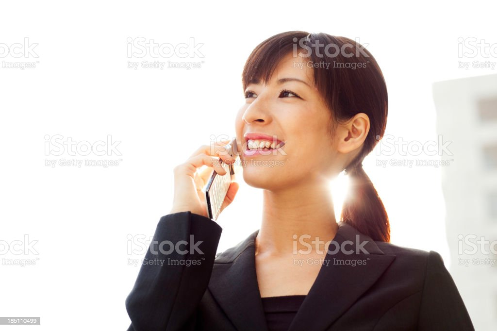Asian Businesswoman on Phone royalty-free stock photo