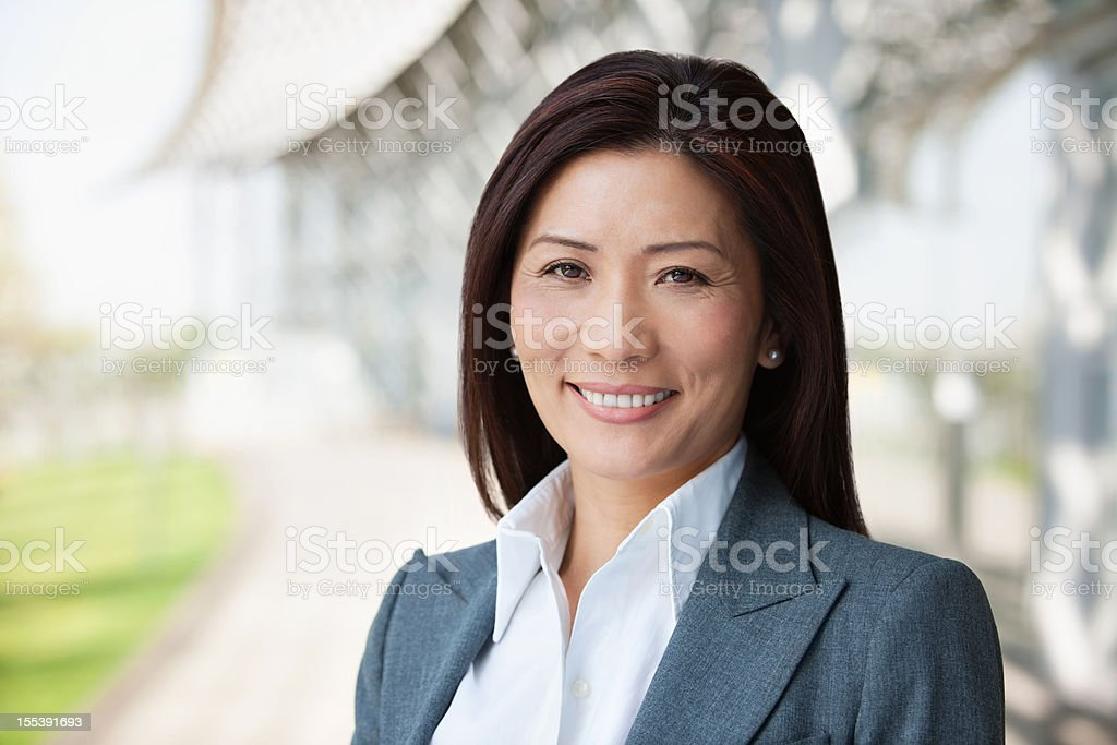 Asian Businesswoman Smiling stock photo
