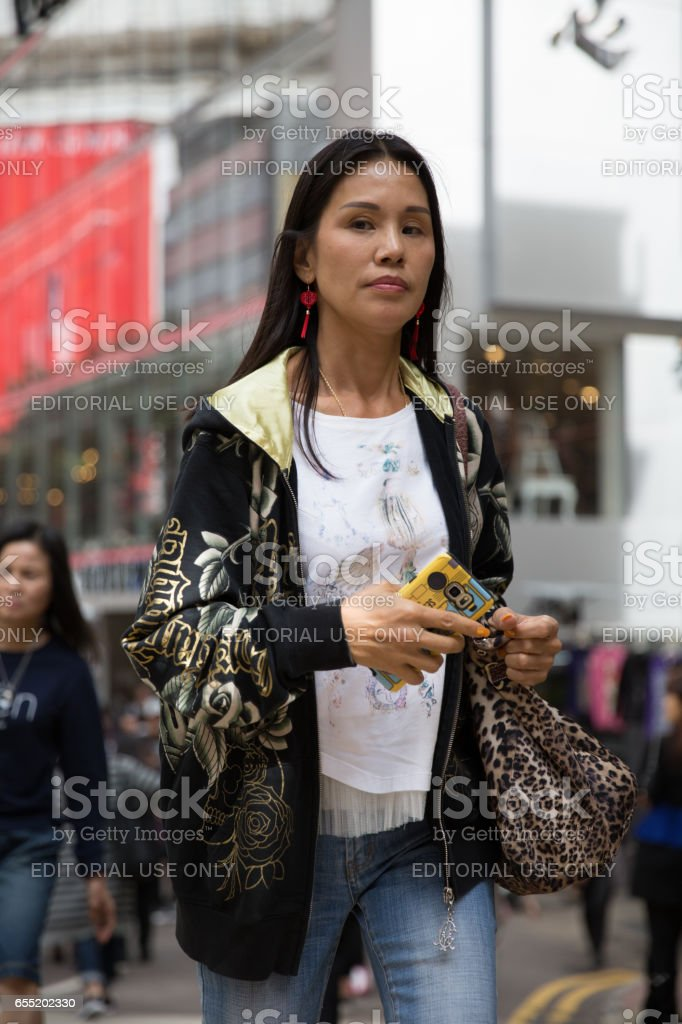 asian busy woman stock photo