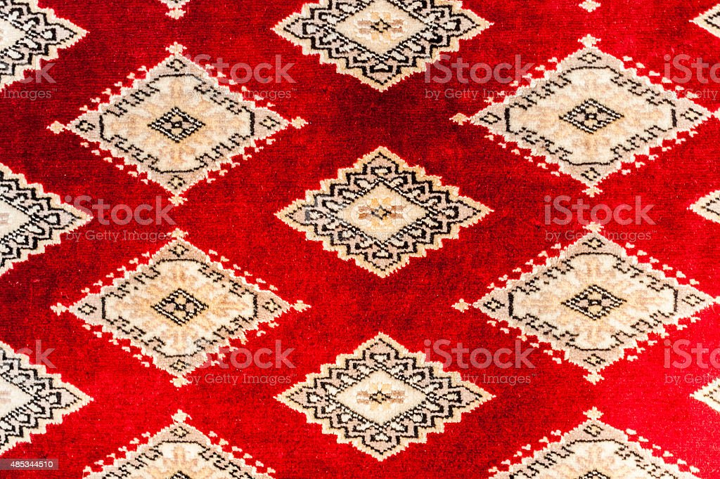 Asian Carpet Background stock photo