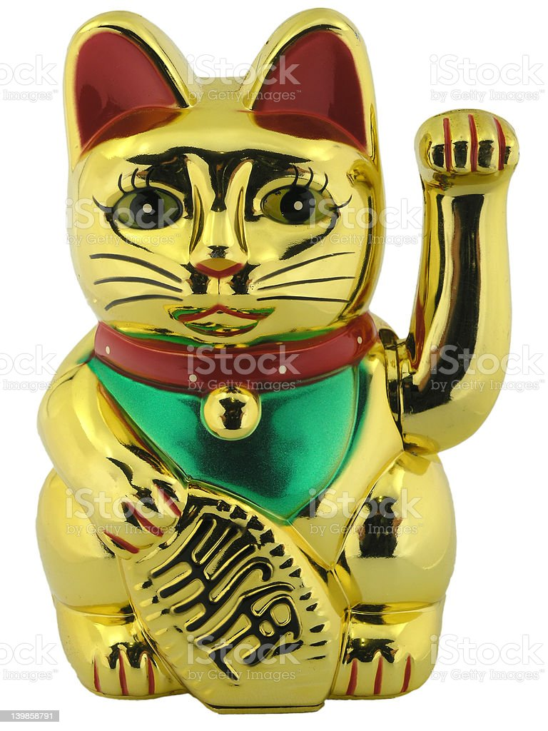 asian cat lucky figure stock photo