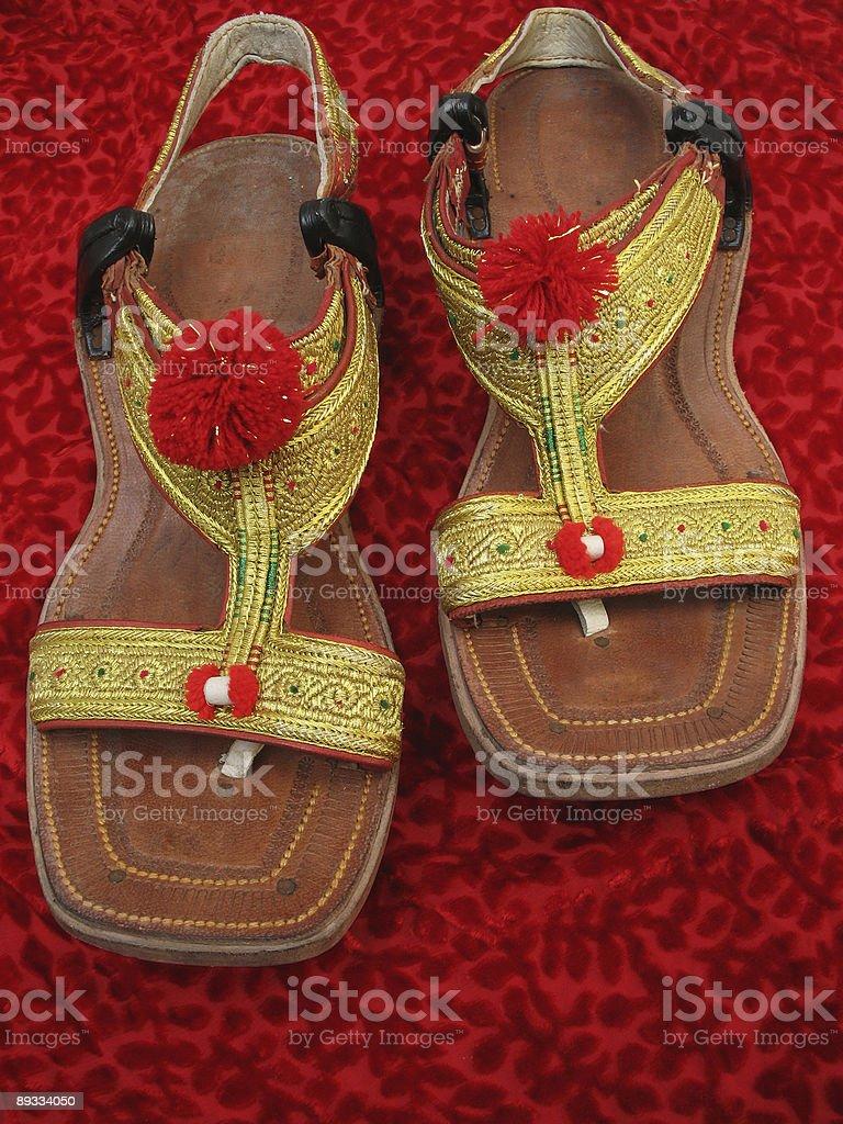 Asian Chappal stock photo