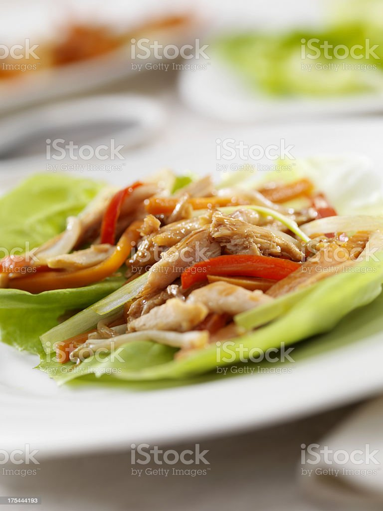 Asian Chicken Lettuce Wrap royalty-free stock photo