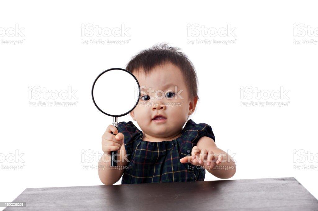 Asian Chinese baby girl stock photo