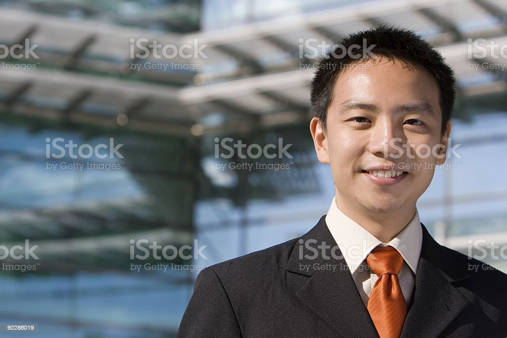 Asian chinese business man royalty-free stock photo