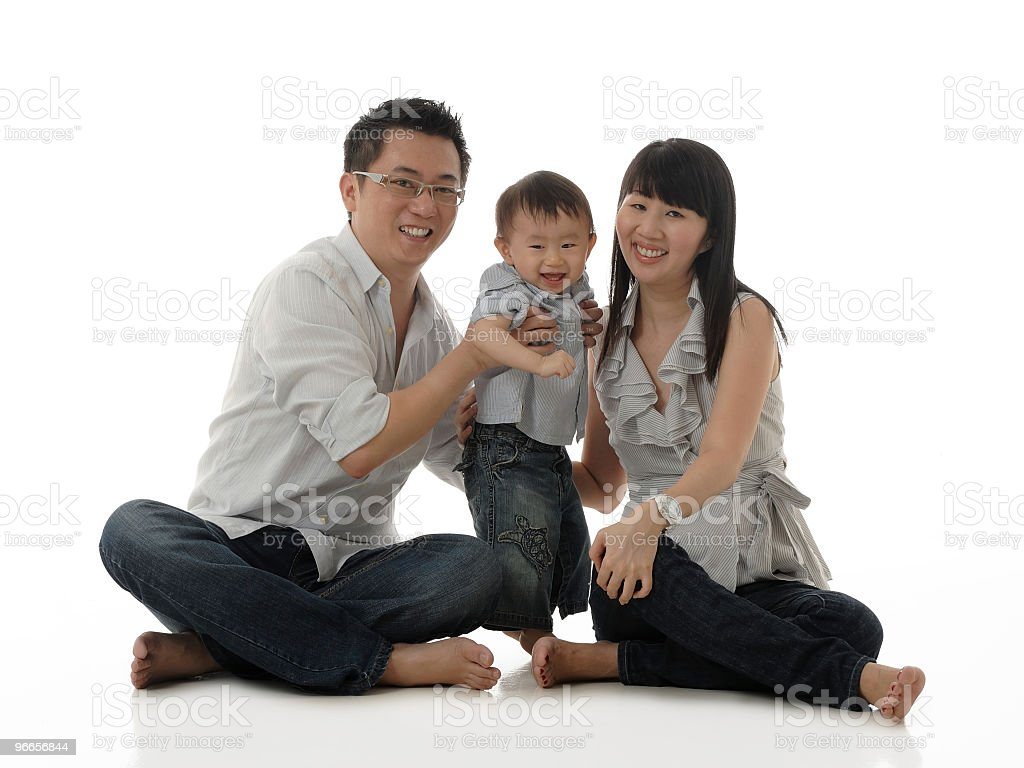 Asian Chinese family royalty-free stock photo