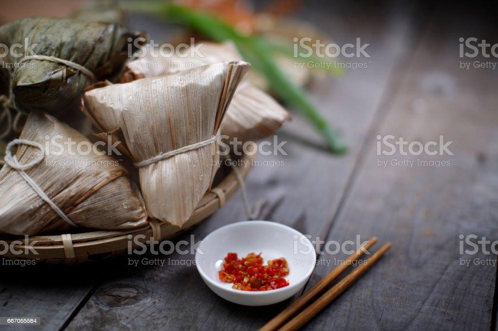 Asian Chinese Rice Dumpling stock photo