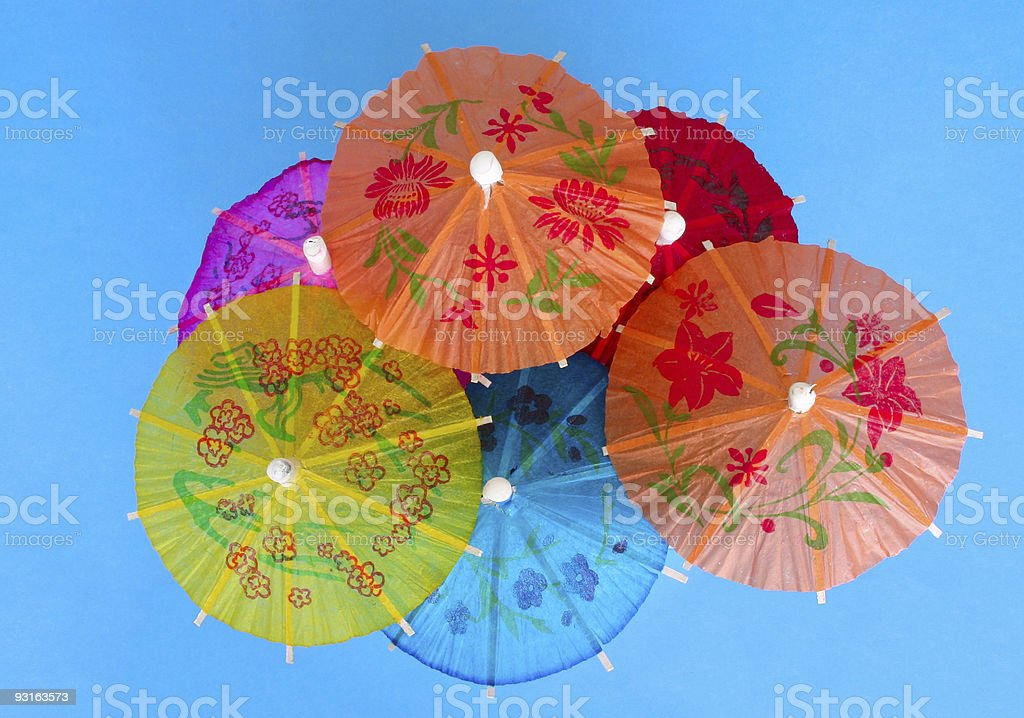 Asian cocktail umbrellas #2 royalty-free stock photo