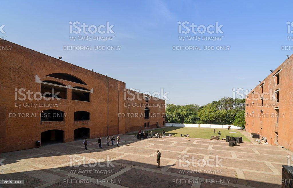 Asian College students at Indian Institute of Management Ahmedabad stock photo