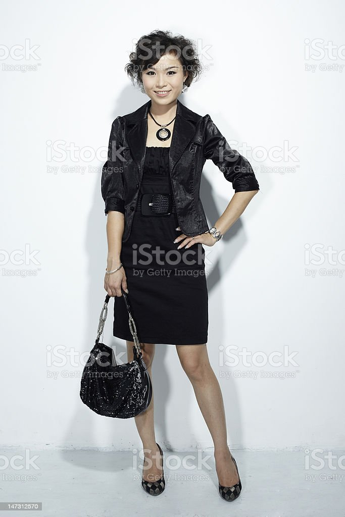 Asian commercial female royalty-free stock photo